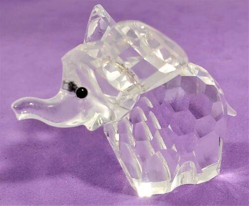 Swarovski Silver Crystal 1988 Elephant Large 7640 060 015169 Retired COA