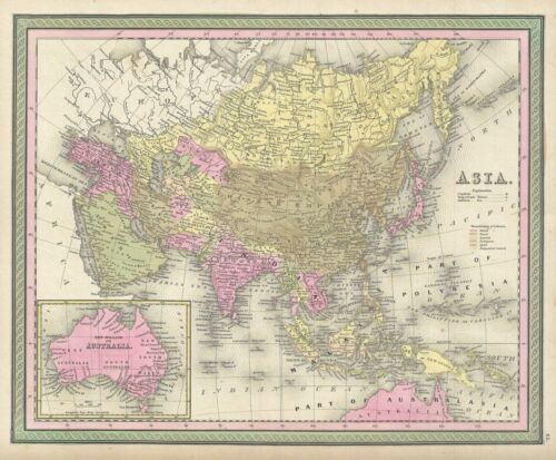 1849 Mitchell Map of Asia