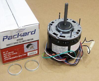 43588 12 Hp 1075 Rpm 230 Volts 3 Speed Furnace Air Handler Blower Fan Motor