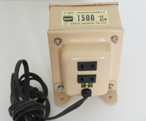 NISSYO NDF-1500U Voltage Converter 110V-120V to 100V 1500W transformer JAPAN