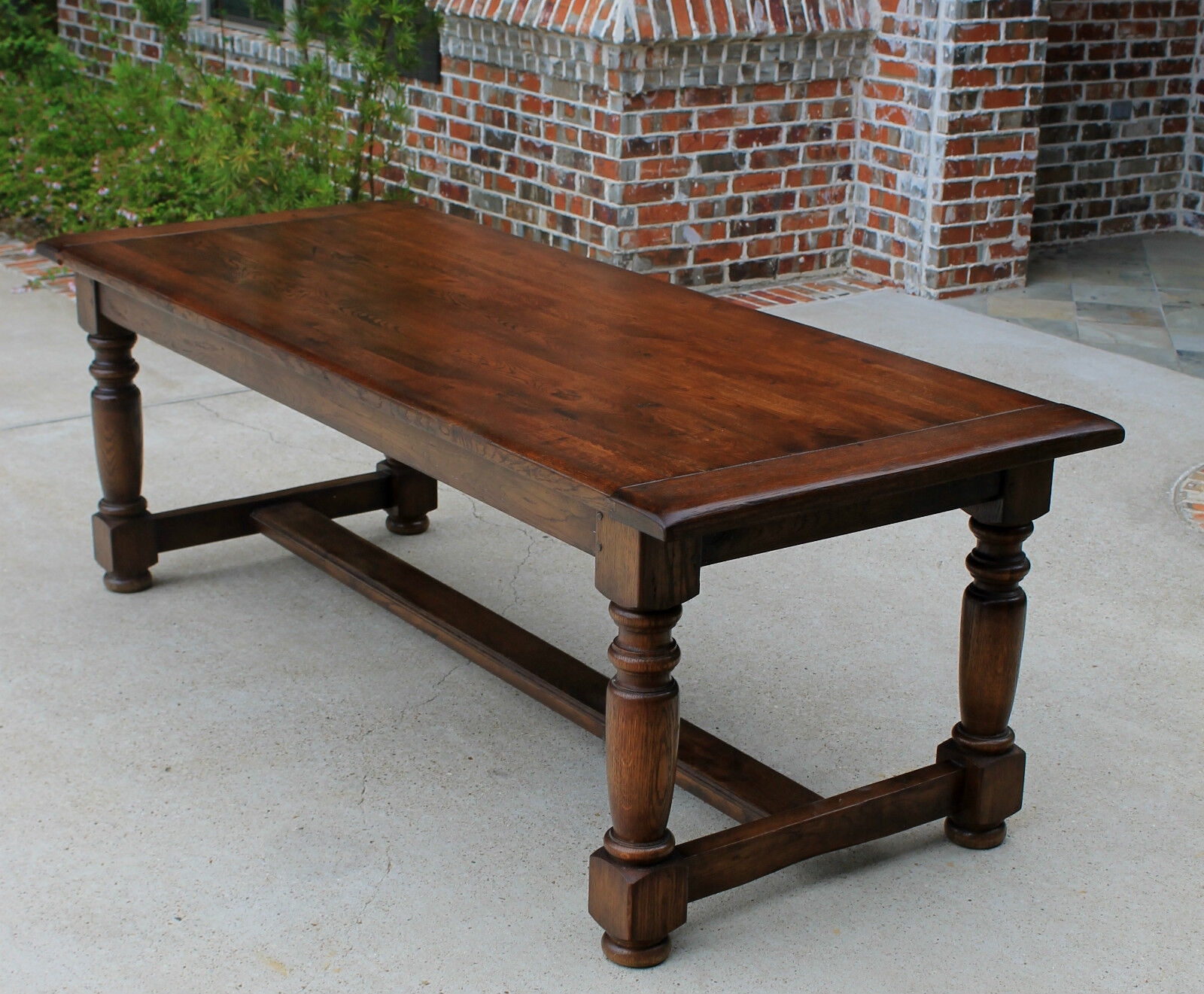 Antique French Oak Farm Farmhouse Dining Table Desk Library Table LARGE Pegge