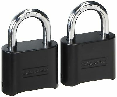 Master Lock 178d Set-your-own Combination Padlock Die-cast Black Pack Of 2