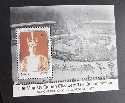 Nevis 1990 Queen's Mother 90th Birthday MS Miniature sheet UM MNH unmounted mint