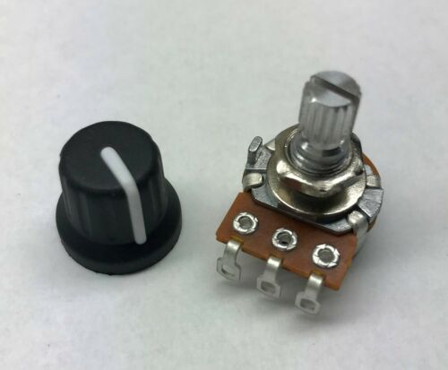 USA Seller - 5K OHM Linear Taper Potentiometer / Pot with Knob (B5K 16mm)