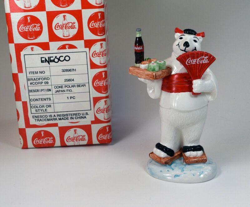 "Vintage 1997 Coca Cola Polar Bear ""Around the World-Japan"" New in Box!!"