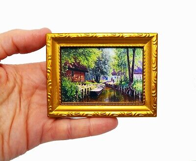 Landscape Painting Picture Living Room Furniture Study Miniature Dolls House