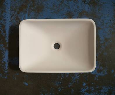 New Castano Pietro Solid Surface Vanity Above Counter Basins