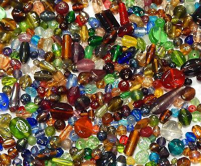 100 g Indische Glasperlen Mixform Bunte Lampwork Schmuck Konvolut BEST MIX20 (Perlen Indisches Schmuck)
