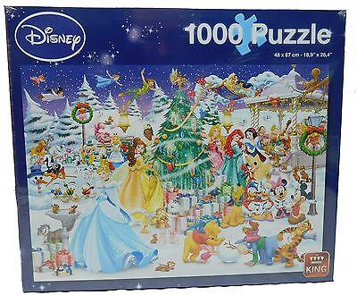 Original Disney Puzzle King Mickey Donald 1000 Teile 5266 Winter Wonderland
