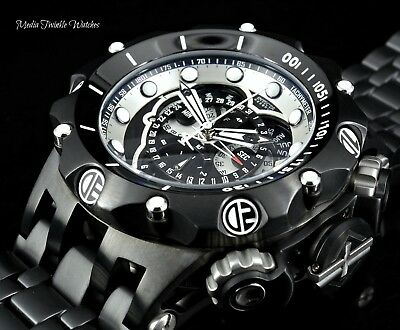 Invicta Reserve 52mm Hybrid VENOM BLACK White Dial Quartz Master Calendar  Watch faf4f010464