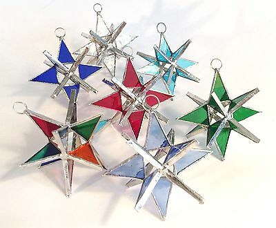 7 Stained Glass moravian Stars -1 OF EACH COLOR !!  The Perfect Valentines Gift](Valentines Coloring)
