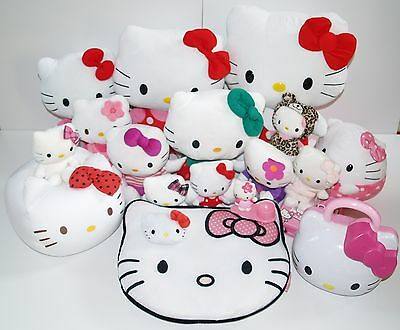 """Hello Kitty Japanese Anime Soft Toy Bundle 12"""" 14"""" 16"""" Egg Cup Matching Game"""