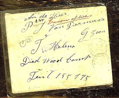 ST HELENA (P0210B) 1901 INCOMIN BOER WAR POW STAMPLESS COVER