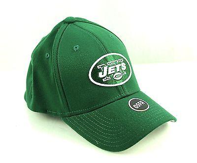 NEW YORK JETS Green Basic Logo Flex Hat Cap NFL Team Apparel Green Basic Logo Hat