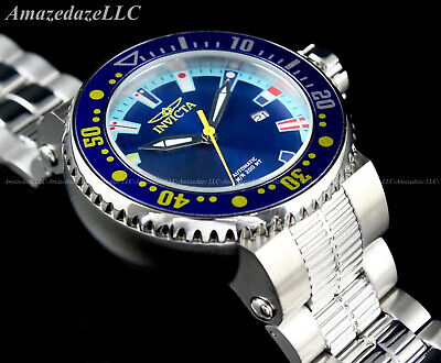 Invicta Men 52mm GRAND PRO DIVER Blue Dial Stainless Steel NH35A Automatic Watch