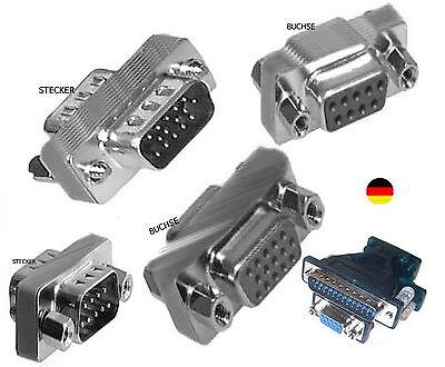 Modem-buchse (Gender Changer s VGA SVGA RS232 9 polig STECKER BUCHSE Nullmodem-Kabel-ADAPTER)