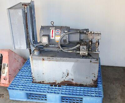 Tl Vickers Parker Hydraulic Power Unit 30 Gal 10hp 208v 3-ph 3000 Psi