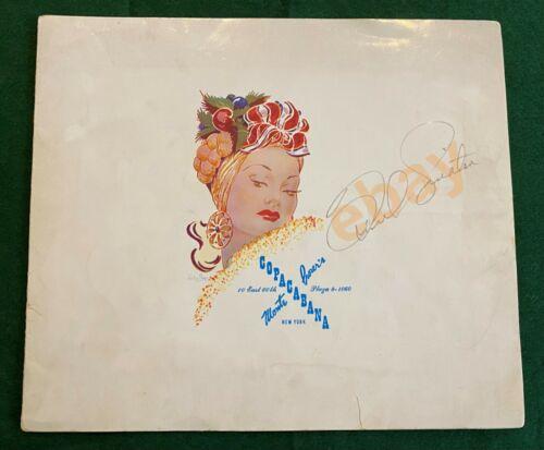 Vintage FRANK SINATRA Signed Copacabana NYC Photo Folder LARGE AUTOGRAPH 1940s