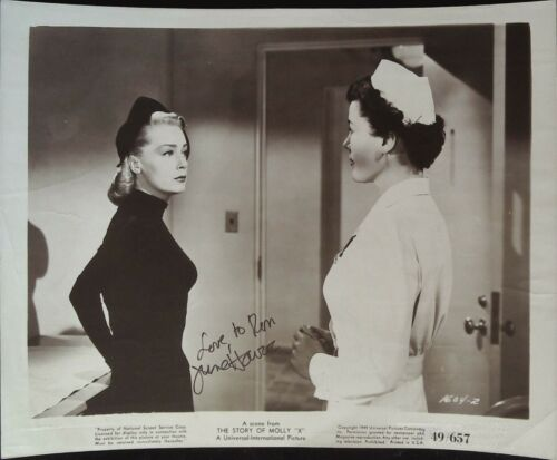 The Story of Molly X 8 x 10 Still SIGNED June Havoc