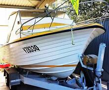 CRUISE CRAFT REEF RANGER, 115 HP EVINRUDE OUTBOARD TANDUM TRAILER Ningi Caboolture Area Preview