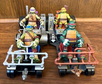 Leo Raph Donnie Mikey Patrol Buggy Lot TMNT Ninja Turtles Figures & Vehicles Lot