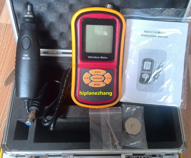 Handheld Vibration Meter Vibrometer Acceleration Velocity Displace Tester GM63B