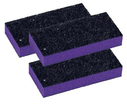 20pc Nail Buffer Medium Buffer Blocks 80/100 Grit Purple Buffer Black Grit