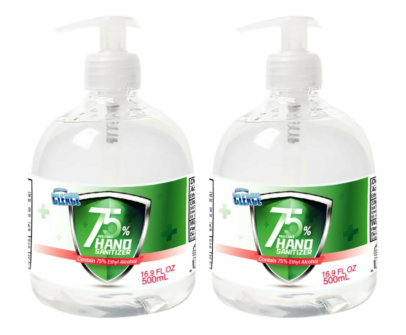 [2-PACK] Cleace Advanced 75% Alcohol Sanitizer Gel, 16.9 oz each (33.8 oz total) Hand Sanitizers