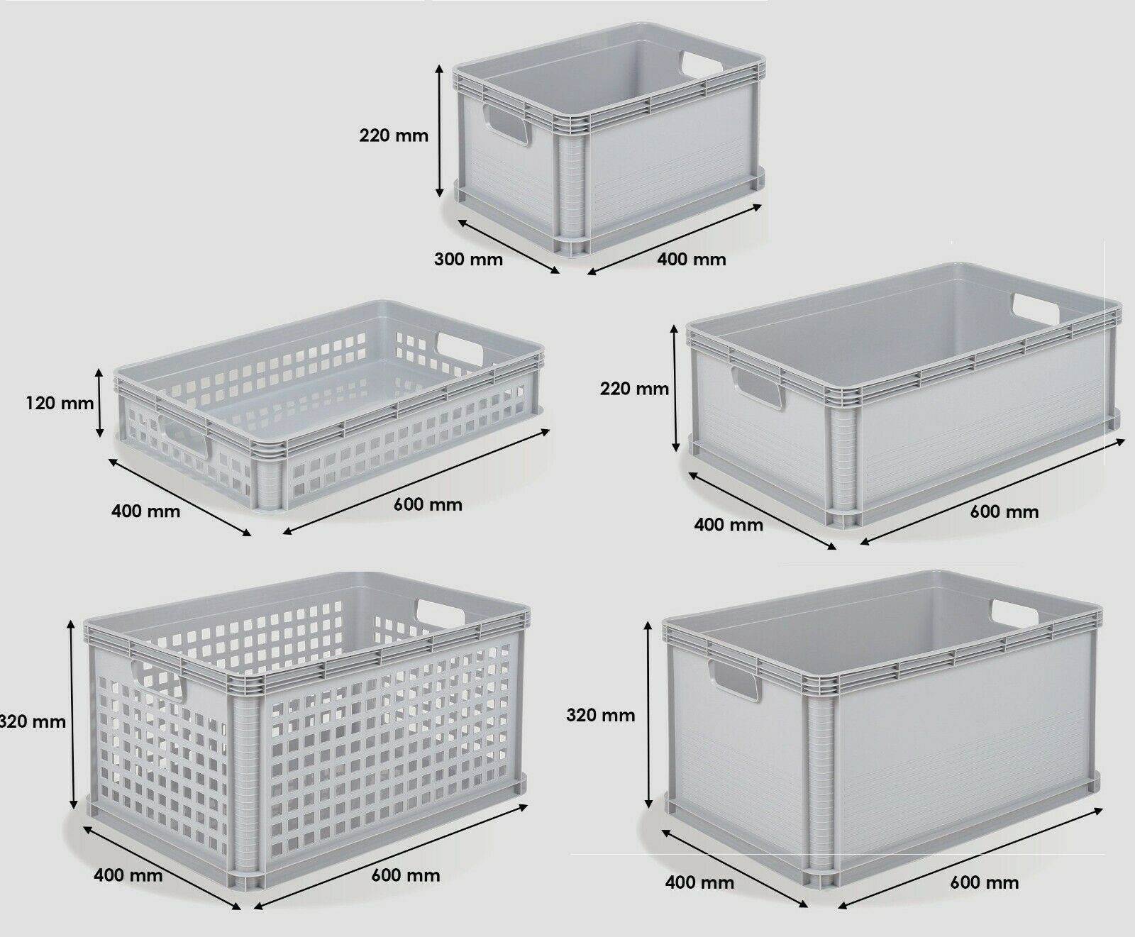 10 X 15l Heavy Duty Plastic Storage Boxes With Lid Crates Containers Bins Tubs For Sale Online Ebay