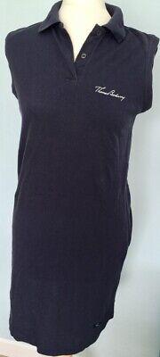 "Thomas Burberry T Shirt Dress Size 10 Navy 34"" Length 35"" Polo Shirt collar BNWT"