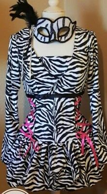 Womens Zebra Costume With Mask - Costumes With Masks For Women