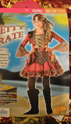 Girl's Halloween Pretty Pirate 4 Pc Costume Outfit Sz Small (4-6), Medium - Pirate Outfits
