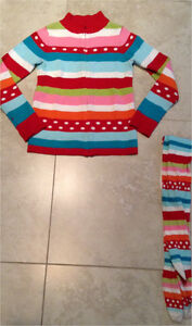 Gymboree Girls holiday sweather and Matching tights size 7-8 London Ontario image 1