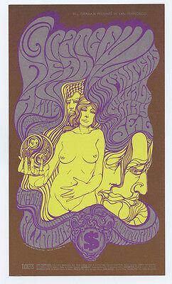 Bill Graham 62 Postcard Grateful Dead Paupers 1967 May 5