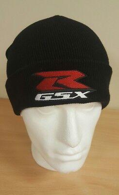 SUZUKI GSXR Embroidered Beanie Hat with turn-up