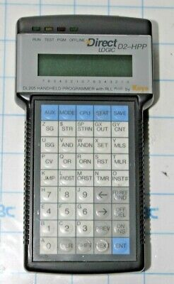 Direct Logic D2-hpp Dl 205 Handheld Programmer With Rll Plus