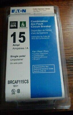 Eaton Brcaf115cs 15a Combination Arc Fault Circuit Breaker Cutler-hammer Series