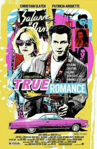 2018 TRUE ROMANCE SILK SCREEN MOVIE POSTER TARANTINO MONDO RHEEM DAVIS #/200 MT