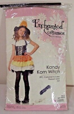 Kandy Korn Witch Candy Corn Dress Up Costume Child Size SMALL ~ HALLOWEEN - Witches Dress Up