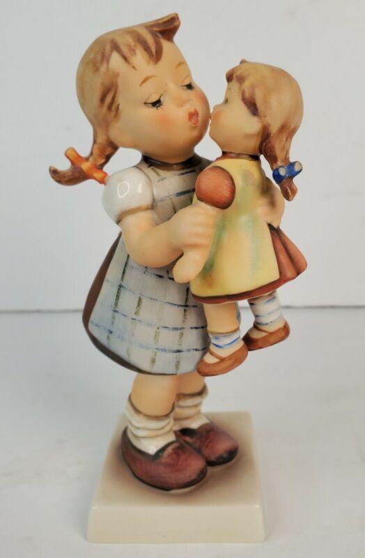 "Vintage Goebel Hummel Figurine ""Kiss Me"" 311 Girl w/Doll"