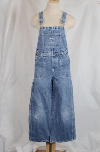 Vintage Tommy Hilfiger Overalls Carpenter Youth M Blue Cotton Denim Star Logo