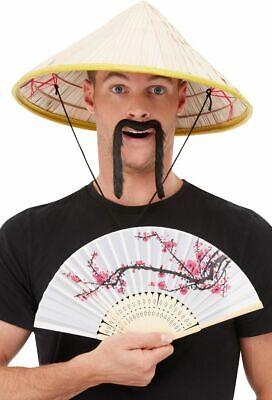 Herren Damen Erwachsene Chinesisch Coolie Orientalische Hut Kostüm - Oriental Chinese Kostüm