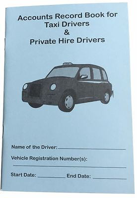 Weekly Accounts Record Book for Taxi, Minicab & Hackney Carriage for Tax HMRC