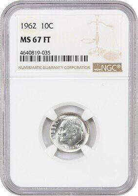 1962 10c NGC MS67 FB - Roosevelt Dime