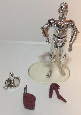 2007 Hasbro STAR WARS C-3PO Action Figure w/ Battle Droid Pieces Misc & Stand