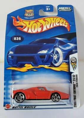 Hot Wheels 2003 First Editions ENZO FERRARI #36 24/42 Red Metal Collection