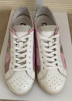 D.A.T.E. Premium Sneakers Pop Camo Sneaker in Pink/Rose EUR 39