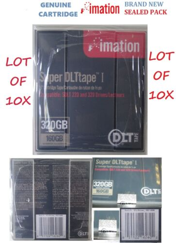 "DLT Imation Super Tape I Cleaning Cartridge Tape  Cart 1/2"" 160Gb/320Gb SDLT"