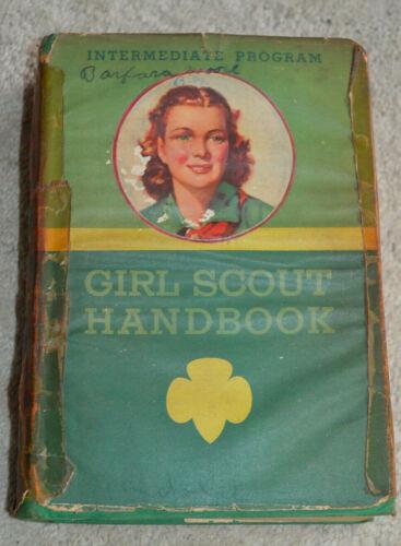 Vtg Girl Scout Handbook 1940 Intermediate Program HC DJ