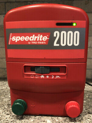 Speedrite 2000 Electric Fence Energizer Charger Acdc Powered Tru-test 30 Acres